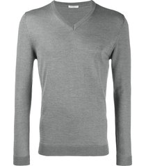 cenere gb fitted fine knit sweater - grey