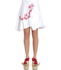 carven ruffled skirt