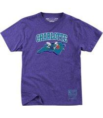 mitchell & ness charlotte hornets men's state wordmark t-shirt