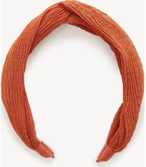women's lurex stripe headband rust one size from sole society