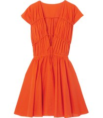 ceres tie-detailed cotton-poplin mini dress