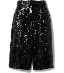 belted sequined crepe shorts