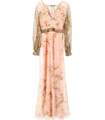 alberta ferretti floral-printed dress