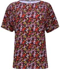 camiseta estampada flores de colores
