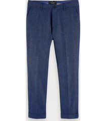 scotch & soda stuart - broek van een wolmix | regular slim fit