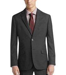 ben sherman charcoal gray plaid extreme slim fit men's suit - size: 38 long