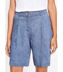 loft bermuda shorts in chambray