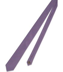 churchs silk printed tie 8 cm chain