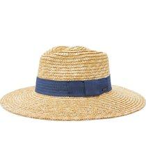 brixton joanna straw hat, size small in honey/joe blue at nordstrom