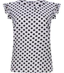 blusa estampada pepas color negro, talla m