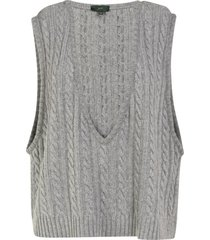 braid knit vest