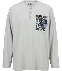 shirt men plus lichtgrijs::marine