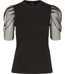 topp vmpanda s/s mesh blouse vip