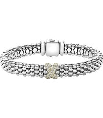 women's lagos diamond lux single station x bracelet
