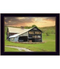 "trendy decor 4u mail pouch barn by lori deiter, printed wall art, ready to hang, black frame, 20"" x 14"""