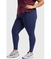 calza reebok cl f vector legging azul - calce ajustado
