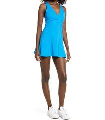 women's eleven by venus williams x carbon38 cross back tennis dress, size x-small - blue