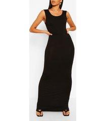 tall basic maxi jurk, black