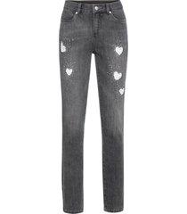 jeans med spetsinfällning