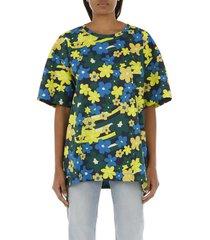 marni rainbow flower printed cotton shirt
