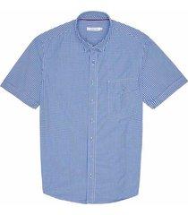 camisa casual manga corta a cuadros regular fit para hombre 93445