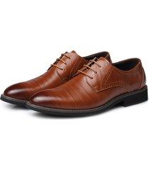 uomini colour match uomo formale business merletti scarpe