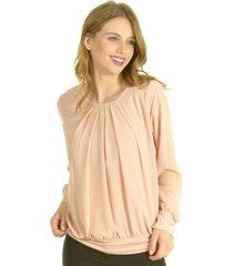 blusa pinzas rosa bou's