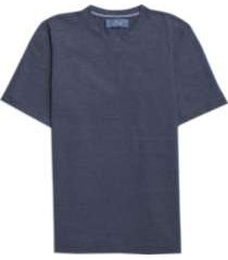 joseph abboud indigo blue crew neck t-shirt blue stripe