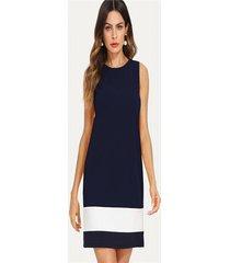vestido  sheinside estilo plain color azul oscuro
