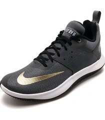 tenis basketball gris-negro-blanco nike fly by low ii