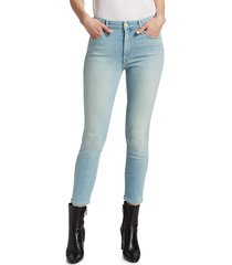 mother women's the looker high-rise crop skinny jeans - swimming - size 32 (10-12)