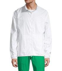 j. lindeberg men's felix deboss track jacket - white - size m