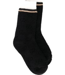gucci textured socks - black
