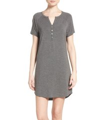 women's pj salvage sleep shirt, size x-small - grey