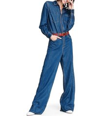 rag & bone women's all in one denim jumpsuit - willow - size 23 (00)