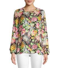 laura floral silk blouse