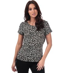 vero moda womens saga leopard print top size 14 in cream