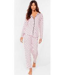 womens dotta lotta to do 3-pc pajama set - pink