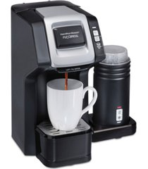 hamilton beach flexbrew dual single cup coffee maker with milk frother
