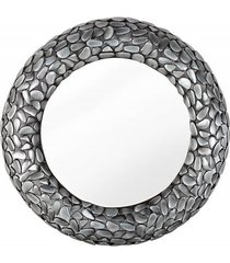 lustro ścienne mosaic stone metal szare 80cm