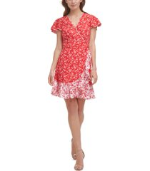 vince camuto ruffled fit & flare dress