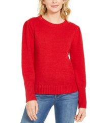 style & co puffy-sleeve sweater, created for macy's