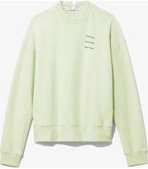 proenza schouler white label ps ny sweatshirt pistachio/pine small ps ny/green l