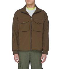 'ghost' cargo pocket zip-up jacket