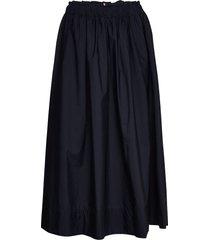 reisa midi skirt rok knielengte blauw tommy hilfiger