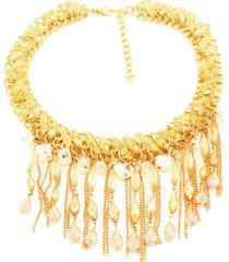 collar dorado almacén de paris