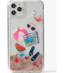 kate spade new york pool party liquid glitter iphone 11 pro max case