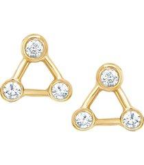 mini summer triangle diamond constellation earrings