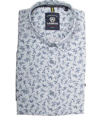 lerros overhemd wit met print 2032151/100 - maat l - maat l - maat l - maat l