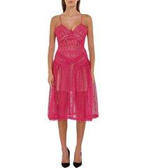 spiral lace dress
